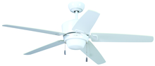"Craftmade ATA52W5 - Atara 52"" Ceiling Fan with Blades and Light in White"