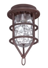 Craftmade OLK200CFL-W - 1 Light Outdoor Cage Fan Light Kit in White with Clear Water Glass