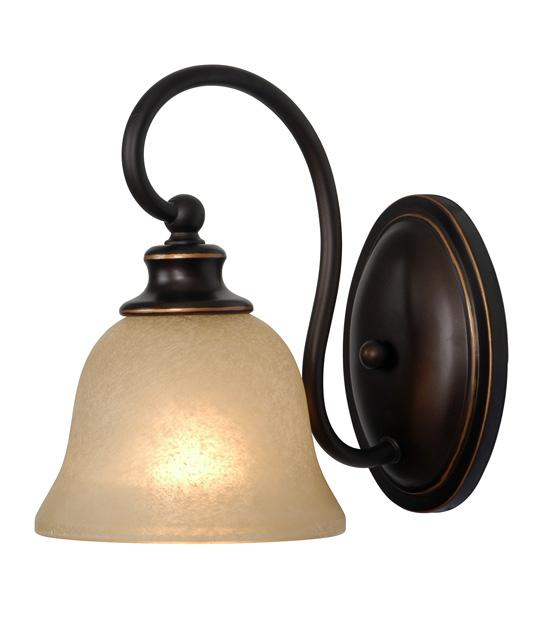 One Light Oil Rubbed Bronze Bathroom Sconce : 222M4 Pine Tree Furniture & Lighting