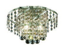 Elegant VECA1W12C/RC - Belenus Collection Wall Sconce D:12in H:8in E:9in Lt:2 Chrome Finish (Royal Cut Crystals)
