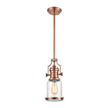 ELK Lighting 67712-1 - Chadwick 1 Light Pendant In Antique Copper And S